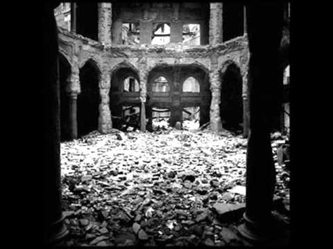 The remains of the National and University Library of Bosnia and Herzegovina after the destruction.