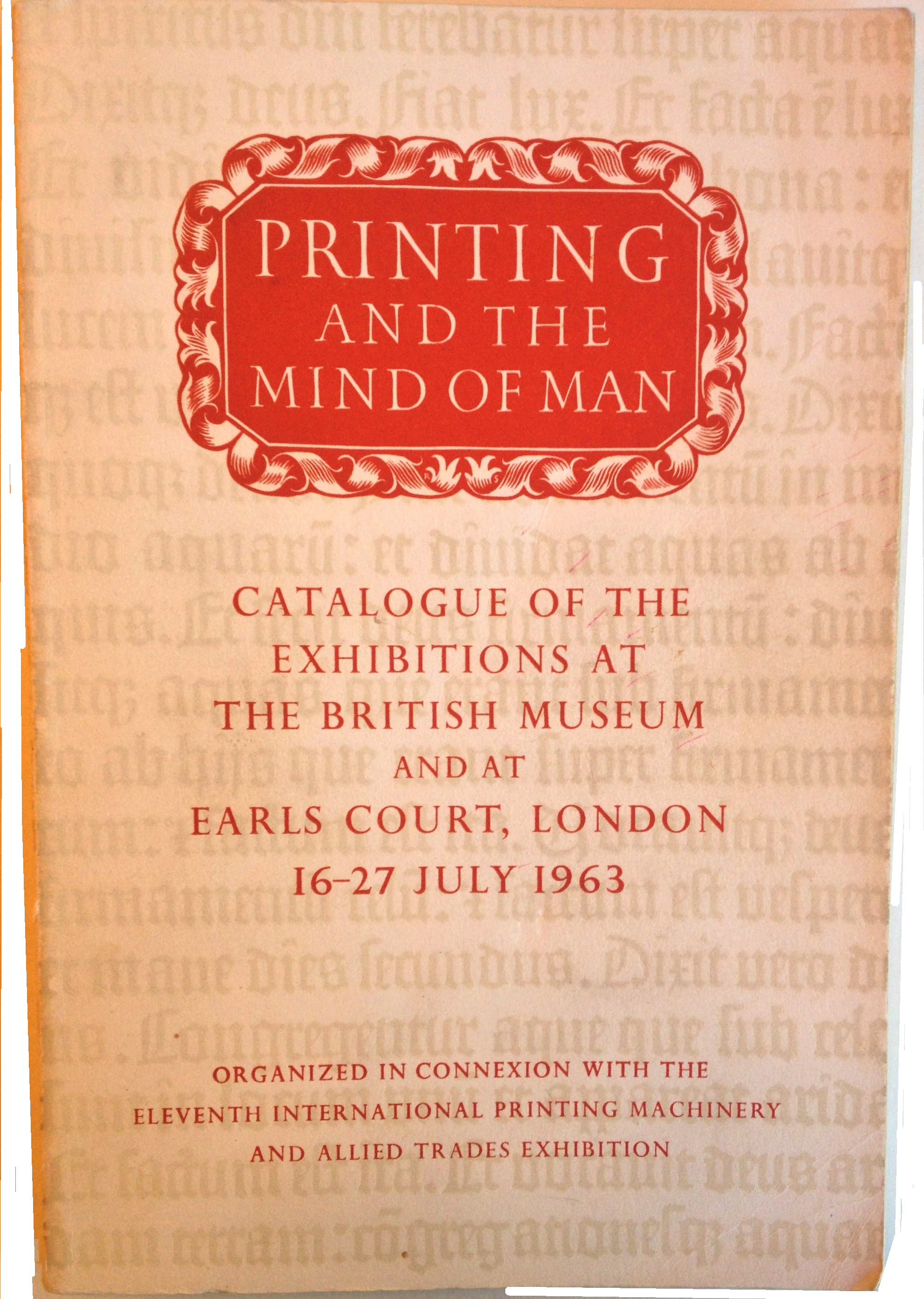 Detail of cover of Printing and the Mind of Man.  Please click to see entire image.