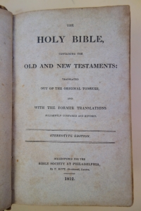 Clever Large 1835 Antique Holy Bible **professionally Restored** Beautiful Evident Effect Antiques