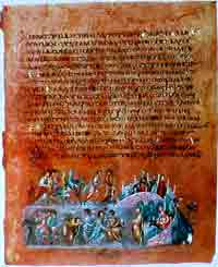 An illustration on folio 12v from the Vienna Genesis showing the story of Jacob.
