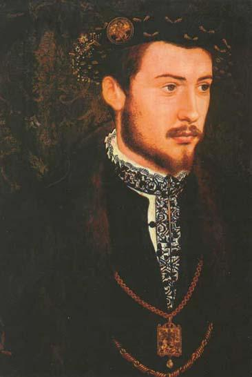 A portrait of Albreccht V, Duke of Bavaria by Hans Mielich, 16th century.