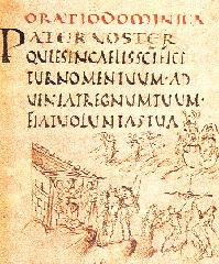 Page from Utretch Psalter.