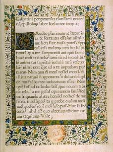"The first book printed in France: Epistolae (""Letters""), by Gasparinus de Bergamo. The book was printed in 1470 by the press established by Johann Heynlin."