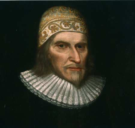 A portrait of Humphrey Chetham, now in the library reading room.