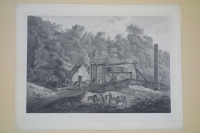 VIEW of the MOUTH of a COAL PIT near BROSLEY, in SHROPSHIRE. Engraved by Francis Chesham after George Robertson (1788) Notably there is no steam engine; work is being done by people with the