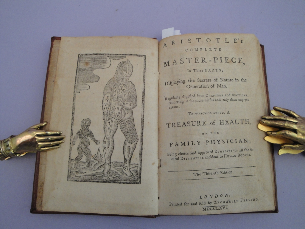 Aristotle's masterpiece title page and frontispiece