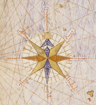 Compass rose from Catalan Atlas (1375)