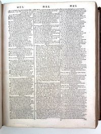 Cruden's references for Hell appear in the center of this typically dense three-column page of the concordance.