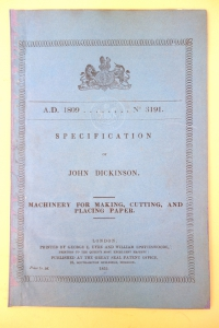 John Dickinson patent cover