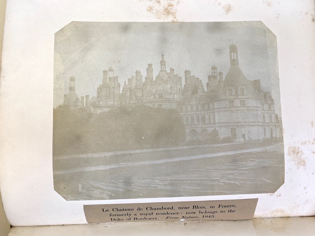 This paper photograph of Le Chateau de Chambord taken by Fox Talbot is one of the largest and best photographic prints by Fox Talbot issued in any copies of the Art Union Monthly Journal for