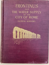 Cover of Herschel Translation of Frontinus on Water Supply of Rome