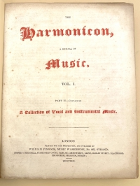 Title page of the first annual collected volume of The Harmonicon magazine.