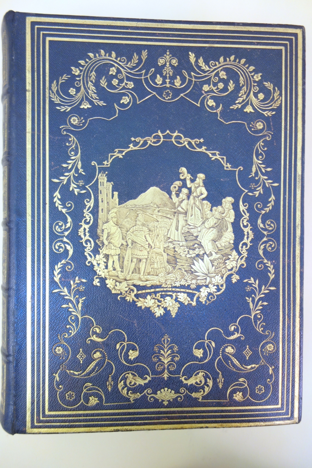 One of the more elaborate American bindings of the period done for this large volume.