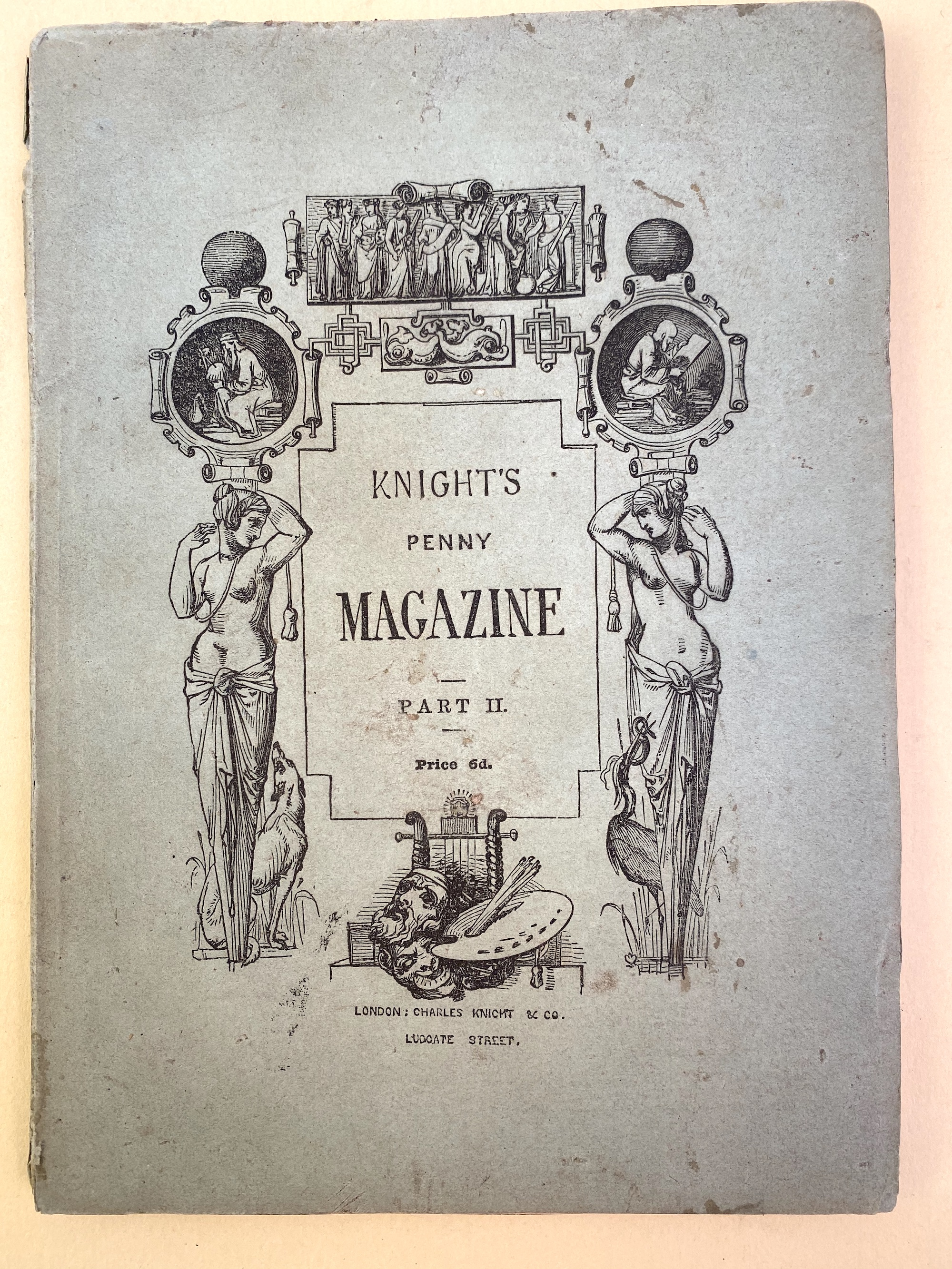 Upper printed wrapper of a separate issue of Knight's Penny Magazine