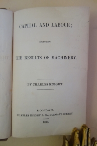 Knight Capital and Labour title page