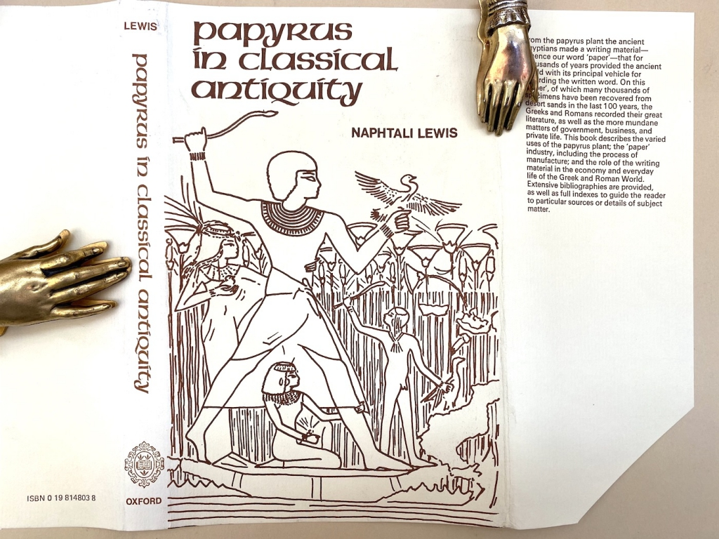 Lewis Papyrus in Classical Antiquity dust jacket