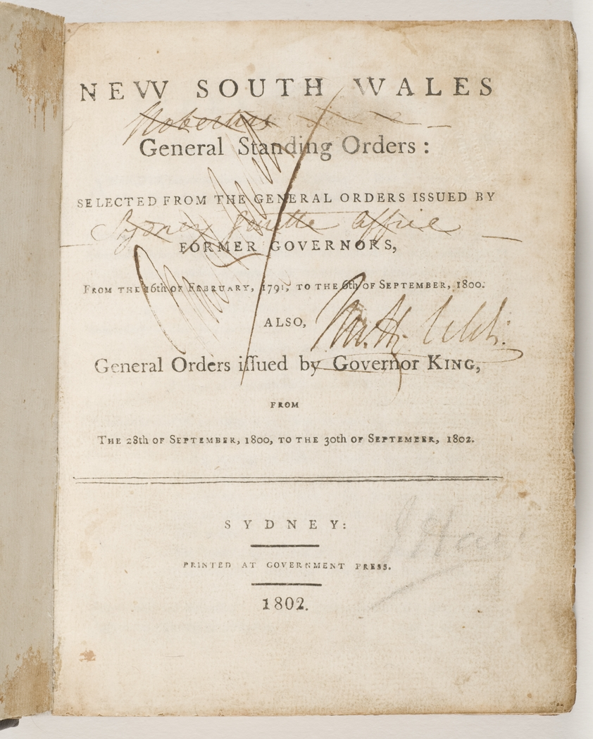New South Wales General Standing Orders