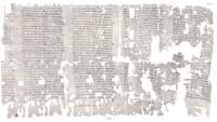 Fragment 2687 of the Oxyrhynchus Papyri, which supplements fragment 9. (View Larger)