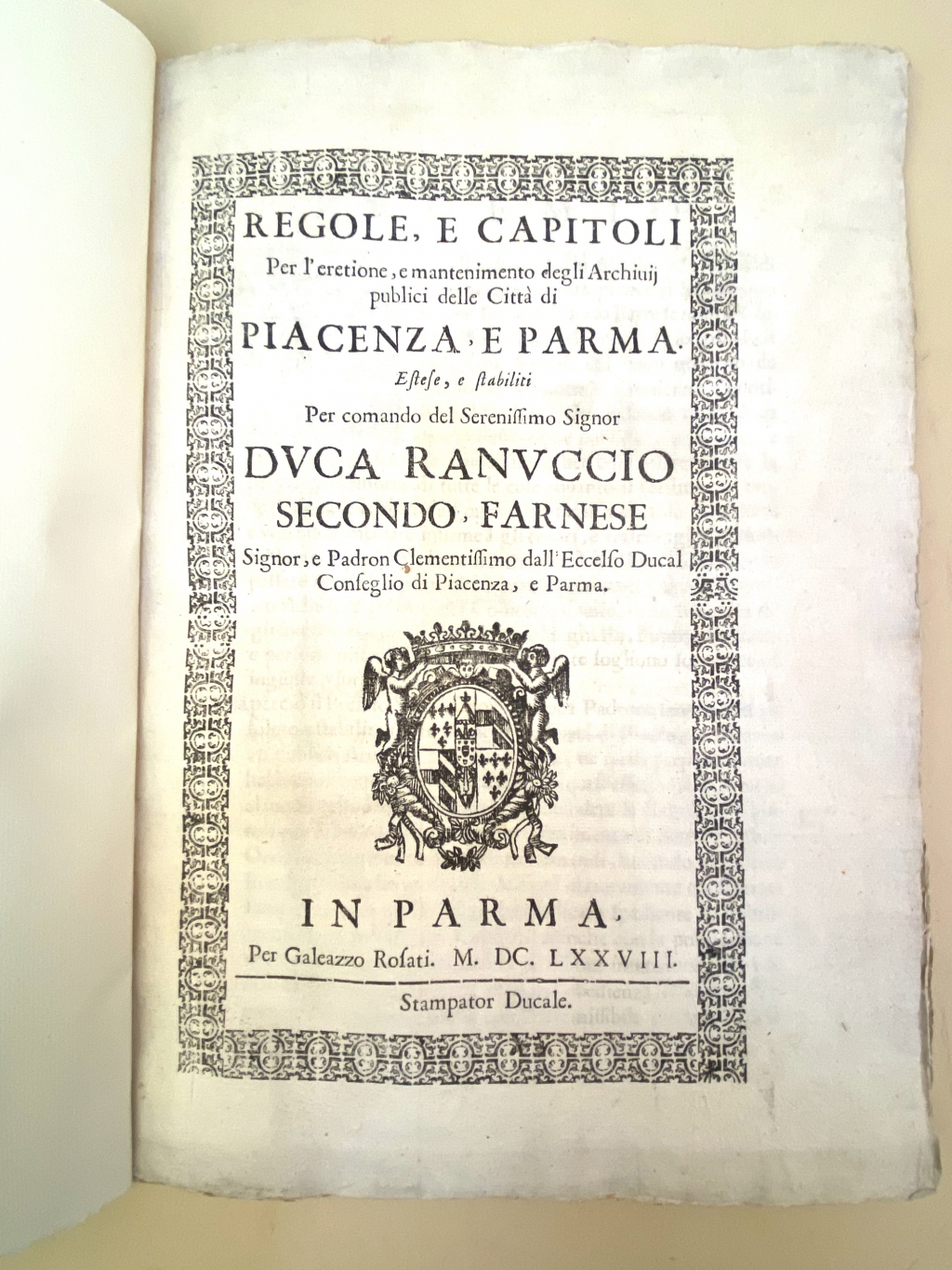 Parma rules for archive operation 1678