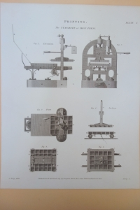 Schematic of Stanhope Press right side up