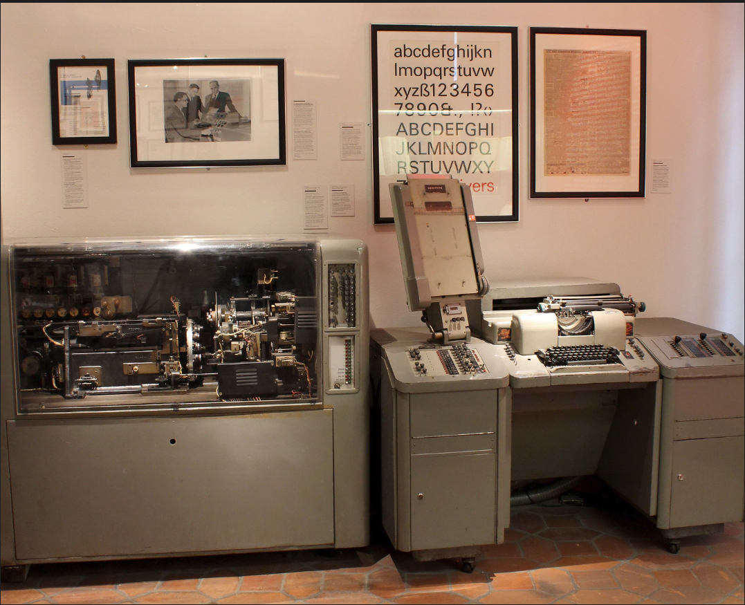 The Lumitype-Photon phototypesetting machine in the Musée de l