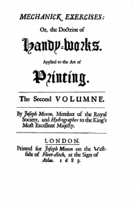 Joseph Moxon Issues the First Comprehensive Printing Manual