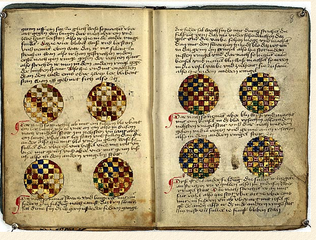 Göttingen Model Book fol. 7v and fol. 8r.