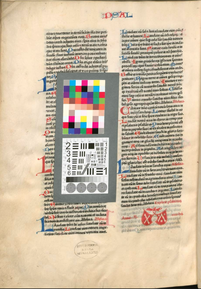 This scan of the 1462 Fust & Schöffer Bible with the colophon and the first printer