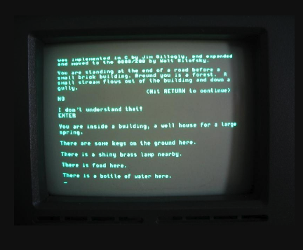 ADVENT running on an Osborne 1 Computer circa 1982.