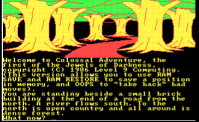 Later versions of Colossal Cave Adventure added pictures, such as this MS-DOS version by Level 9 Computing.