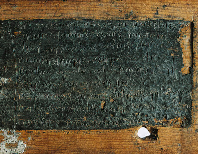 One of the Springmount Bog wax tablets.