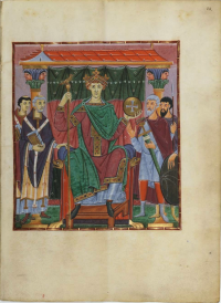 Portrait of Otto III in the Gospels of Otto III, Bayerische Staatsbibliothek CLM 4453.