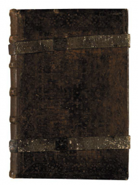 Binding probably created at the monastery of Subiaco on the first dated book printed in Italy, the Sweynheym & Pannartz Lactantius.