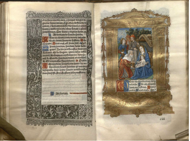 Hore intemerate Virginis Marie secundu[m] vsum Romanum cum pluribus orationibus tam in Gallico[et] in Latino [Printed Book of Hours]. [Paris: G. Anabat, 1505.] Call Number: Summerfield C65 (University of Kansas).