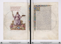 Vatican Library Ms Urb.lat.329, dating from c. 1450-c. 1470, may be the most famous illuminated manuscript of Martianus Capella. A digital facsimile is available from digi.vatlib.it at this link.