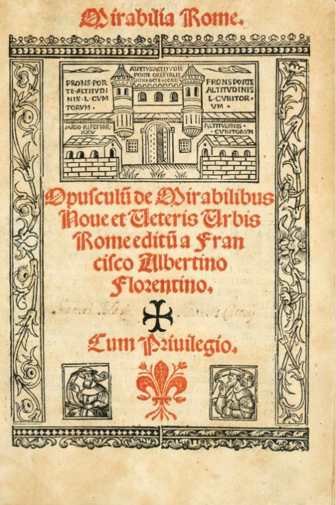 Title page of the 1520 edition of Albertini