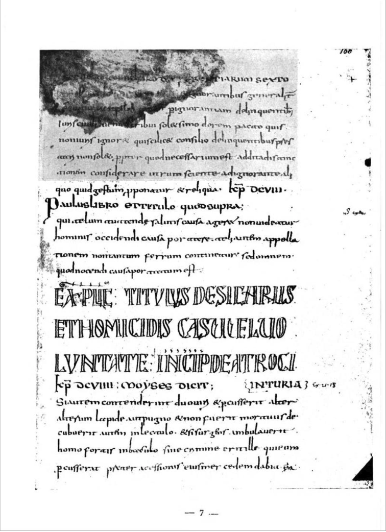 The Berlin Codex of the Collatio as reproduced by Hyamson, p.7.