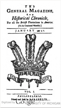 This is a digital copy of a facsimile of the first issue of Benjamin Franklin