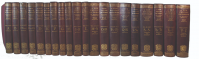 A set of the first editions of the OED in the original deluxe bindings.
