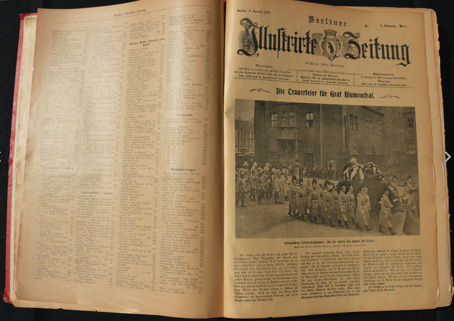 First issue of the Berliner Illustrirte Zeitung.