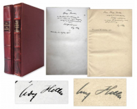 A specially bound set of the first editions of Mein Kampf, inscribed by Hitler in both volumes to Philipp Bouhler, one of the first members of the Nazi party.