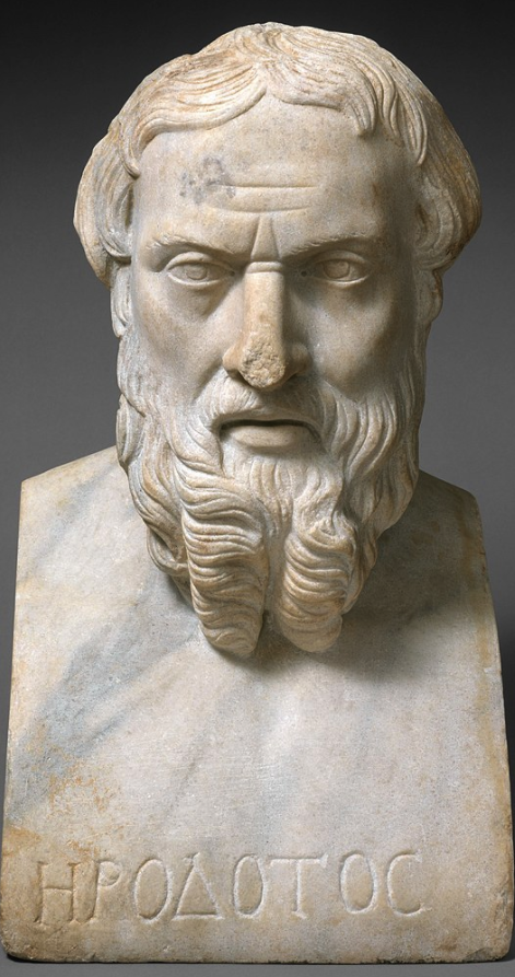 Roman copy of a Greek bust of Herodotus, dated 2nd century CE.