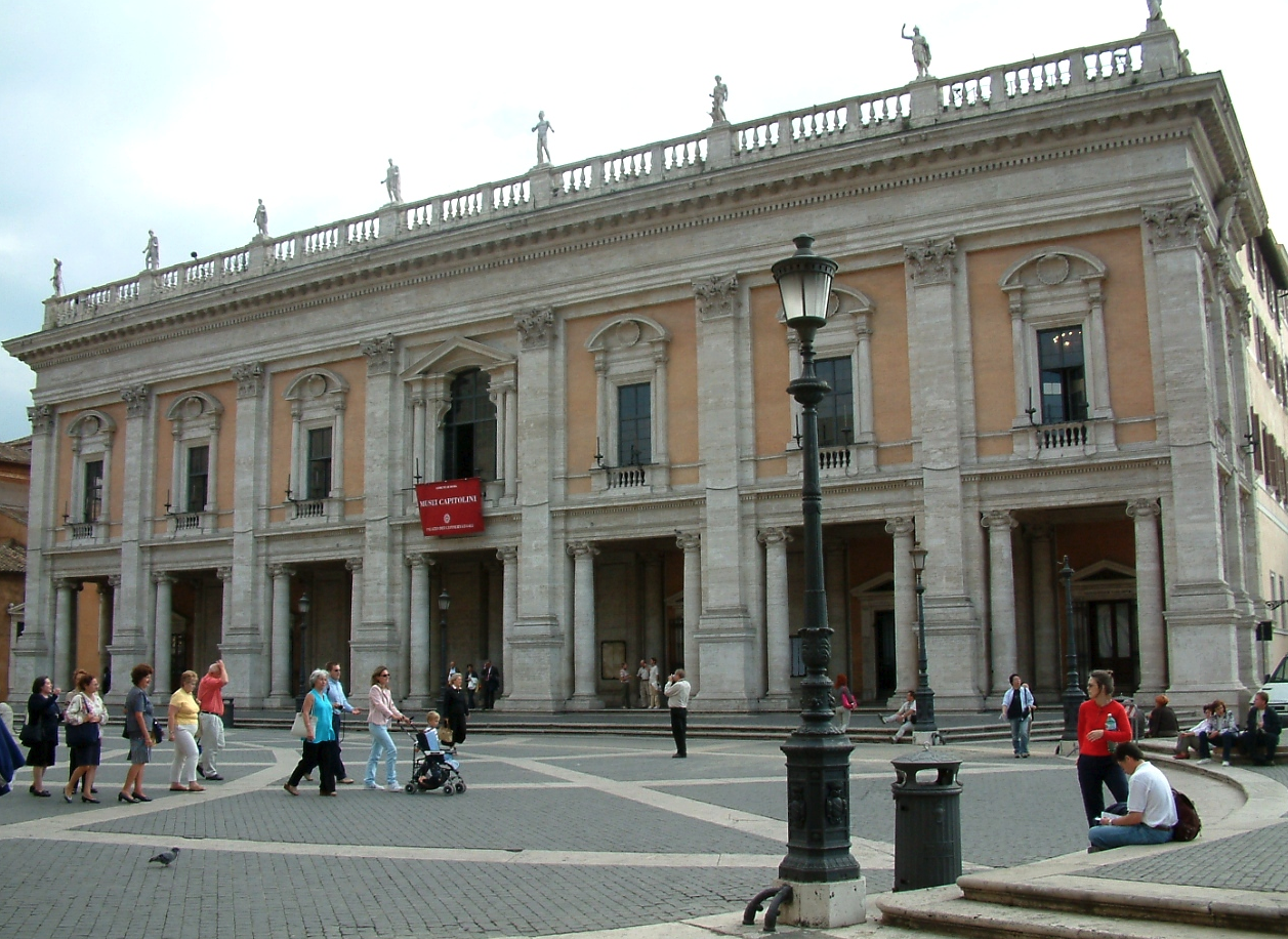 Capitoline Museum, a building designed by Michelangelo.