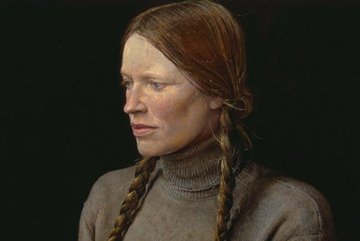 """Braids"" by Andrew Wyeth."