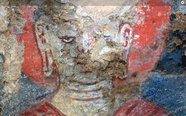 Oldest Oil Paintings, Bamiyan, Afghanistan. National Research Institute for Cultural Properties, Tokyo