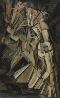 Nude Descending a Staircase by Marcel Duchamp, No. 2, painted in 1912.