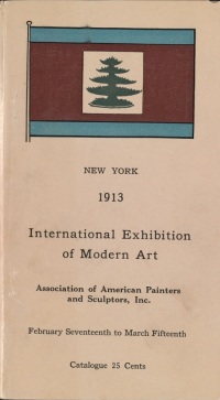 Upper cover of the catalogue printed for the Armory Show.