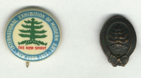 Armory Show button and lapel pin. Archives of American Art.