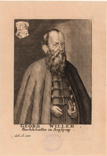 Portrait of Georg Willer published in 1725.