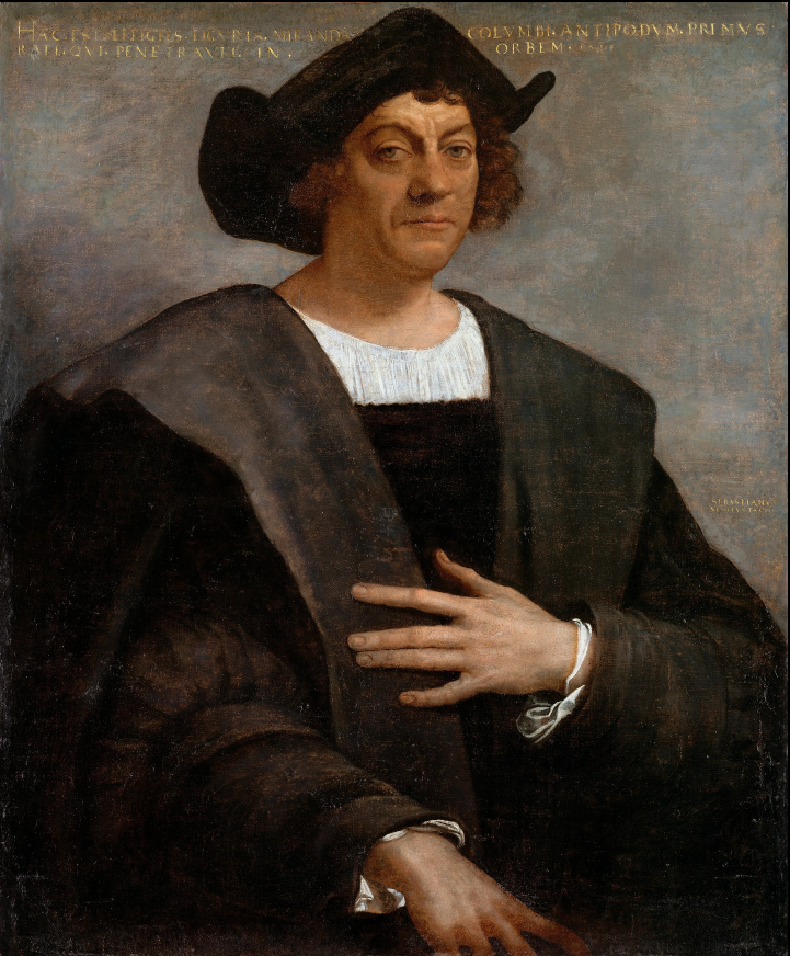 Portrait of a man, said to be Christopher Columbus by Sebastiano del Piombo. No demonstably authentic portraits of Columbus exist. Metropolitan Museum of Art.